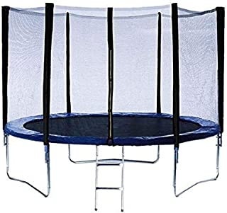Round Trampoline With Safety Enclosure Net And Ladder - 8 Feet