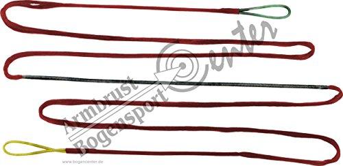 Black Flash rote 16 Strang Bogensehne, Sehne aus Fast-Flight für Bogenlänge 70 Zoll, Langbogen, Recurvebogen, Bogenschießen