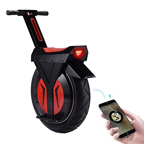 GHH Big Single Wheel Electric Einrad Offroad Einrad Roller für Erwachsene Selbstausgleich Faltbar mit LED-Leuchten 500W Motor Vakuumreifen Schnellste Geschwindigkeit 20 km 90km,60km