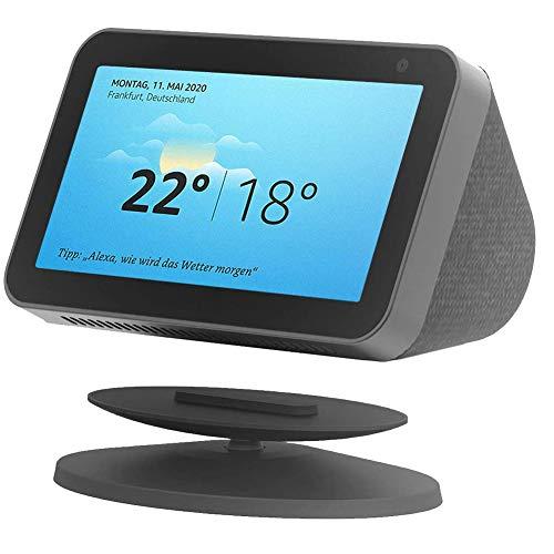 Kiner Soporte para Echo Show 8 / Echo Show 5, Stand Portátil para Alexa Amazon Altavoz Bluetooth con Base Magnética (Negro)
