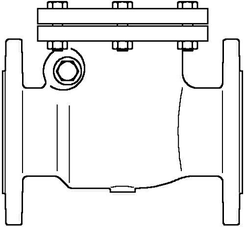 Oventrop Clapet anti-retour PN 16, gris fonte, Bride Exécution DN 100