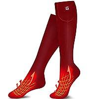 MMlove Heated Socks,Heated Socks Women Rechargeable Washable,Battery Thermal Socks, Electric Ski Socks Foot Warmers for Hiking Hunting Camping Fishing Socks