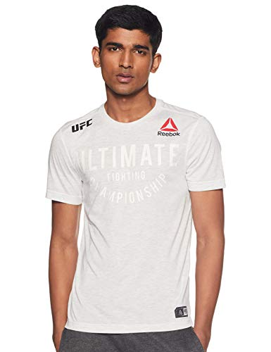 Reebok UFC FK Ultimate Jersey Camiseta, Hombre, Chalk, 3XL