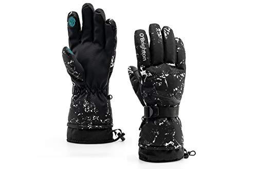 O'Brighton Ski Gloves for Men Women (M)