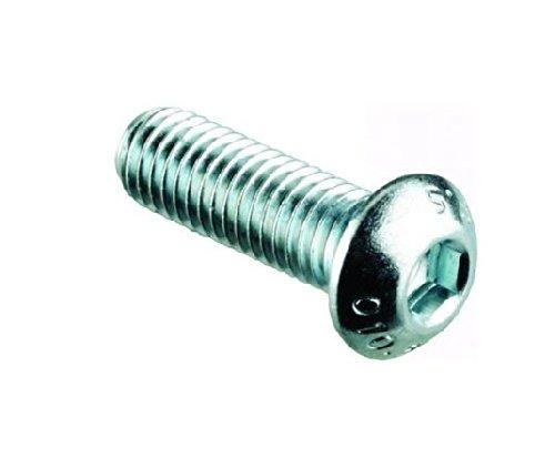 AHC, 5054226061319, Socket 6 mm viti a testa rotonda (50 pz.) Viti M6 x 20 mm, in acciaio inox A2, testa a brugola in acciaio inox bullone chiave/vite macchine