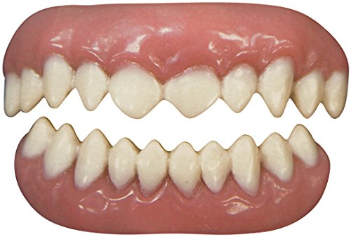 Tinsley Transfers Cannibal False Teeth FX (2 Piece), White/Pink