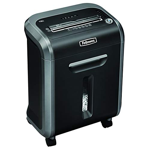 Fellowes 4679004 Distruggidocumenti Powershred 79Ci, a Frammento, Nero/Silver