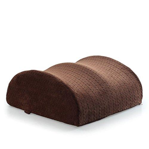 Uus GYD Rebound Lent Memory Foam Coussin spécial Thick Taille Coussin Dossier lit par Lazy Leg Old Enceinte Oreiller (Couleur : Marron)