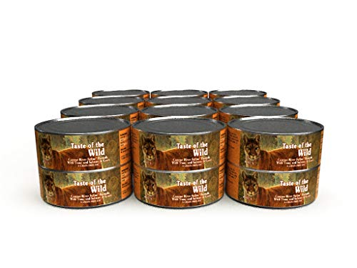 Taste of the Wild Canyon River Grain-Free Recipe with Trout and Salmon in Gravy Wet Canned Cat Food,...