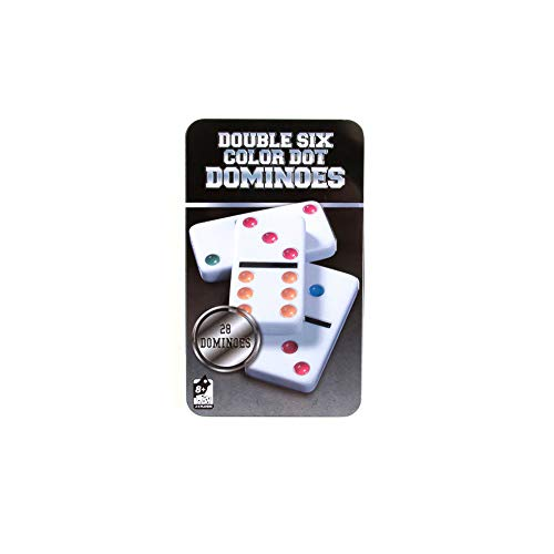Dominos Set, AOQING Double 6 Color Dot Dominoes,Set of 28 Dominos Game (Pack of 2)