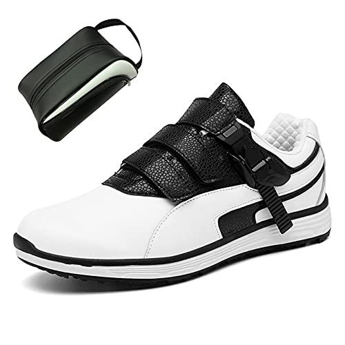 CAMILYIN Zapatos de golf transpirables suaves para golf, absorben el sudor, zapatos de golf de malla transpirable, suaves y cómodas, suela de goma antideslizante, saludable y estéril, 2,44