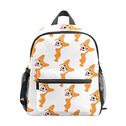 Mochila estudiantil para niños, niñas y niños, bonita mochila informal Corgi mochila de viaje para la escuela