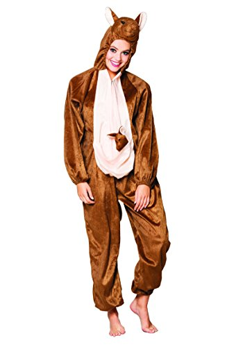 Boland- Costume Tuta Peluche Canguro per Adulti, Marrone, max 1,65 m, 88437