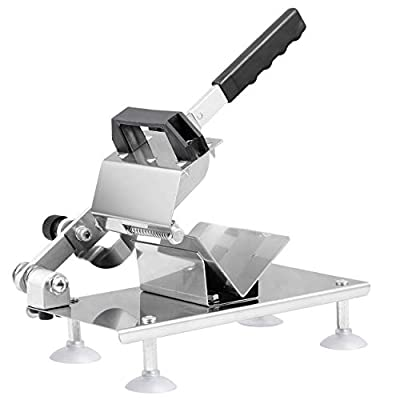 ZENY Manual Frozen Meat Slicer, Stainless Steel Meat Cutter Beef Mutton Roll Meat Food Slicer Slicing Machine for Home Cooking Kit of Hot Pot Shabu