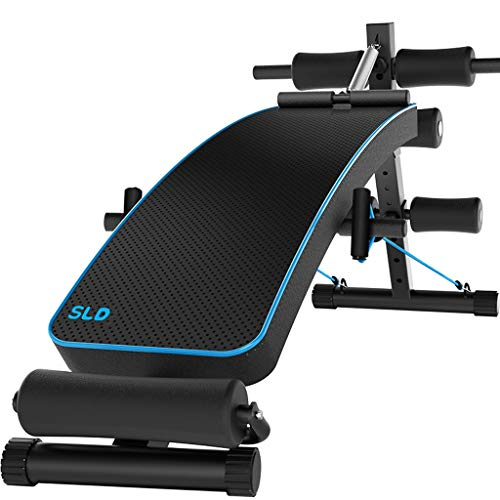 Lowest Price! DLT AB Bench Incline Decline, Black Blue Utility Weight Bench Crunch Board for Toning ...