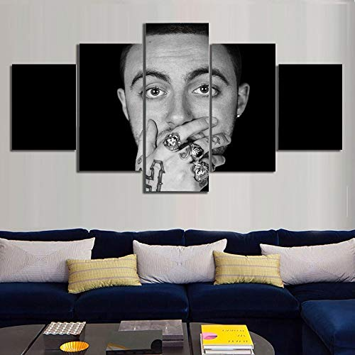 NATVVA Canvas Wall Art Pictures Home Decor Room Poster 5 Pieces Hip Hop Printed Painting