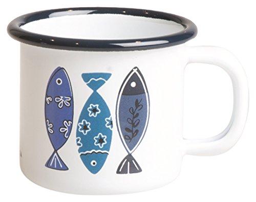 Excelsa Ocean Mug Fer émaillé Blanc 6 cm