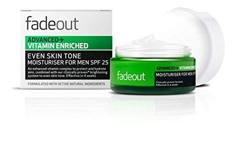 Fade Out Advanced+ Vitamin Enriched Moisturizer for Men SPF 25 - Clinically...