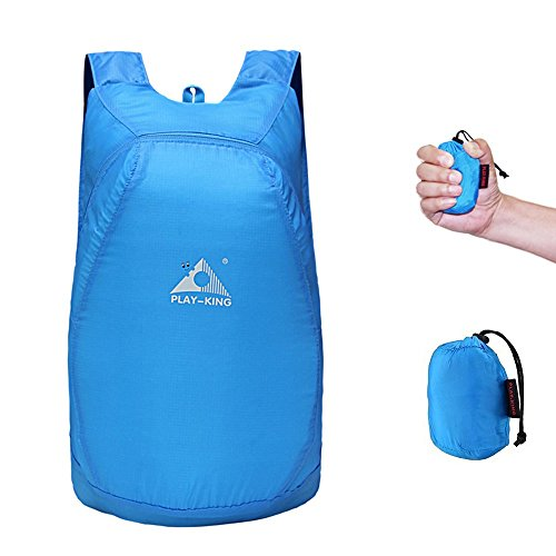 STOON Ultralight Travel Daypack Packable Foldable Waterproof Polyester Little Bag Lightweight Backpack Handy for Outdoor Hiking Traveling Camping Cycling Fishing, Blue