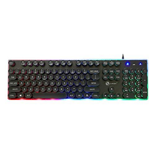 XJYA Teclado de Juegos mecánicos Multi Color RGB Iluminado