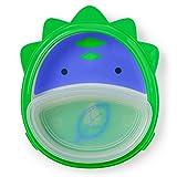 Skip Hop Baby Self-Feeding Training Dishes: Microwave and Dishwasher Safe Training Plate, Dino