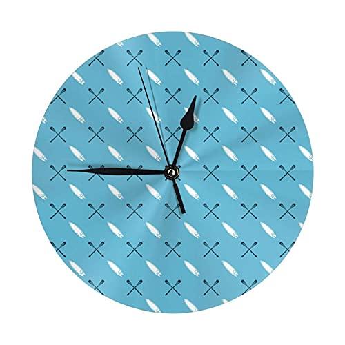 GOSMAO Reloj de Pared Redondo,Tabla de Surf Blanca,Reloj de Escritorio Reloj Decorativo para la Oficina de la Escuela en casa