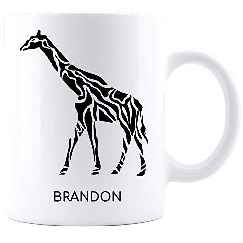 Taza De Ceramica Jirafa Jirafa Para Hombres I Love Giraffes Him Her Black Diseño Gráfico Taza De Café Cumpleaños Cerámica Novedad 330Ml Leche Blanca Taza De Té Personalizar Unisex