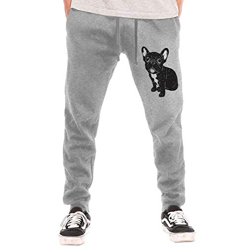 Cute Brindle Frenchie Puppy Sweatpants Jogger Pant Men Pajama Pants for Outdoor Training Jogger