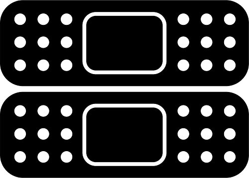 Akachafactory Sticker, zelfklevend, tuning, JDM, auto, motorfiets, pleister, zwart, 2 stuks