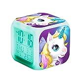 N / B Unicornio Digital Girls Alarm Relojes, Cubo de los niños...