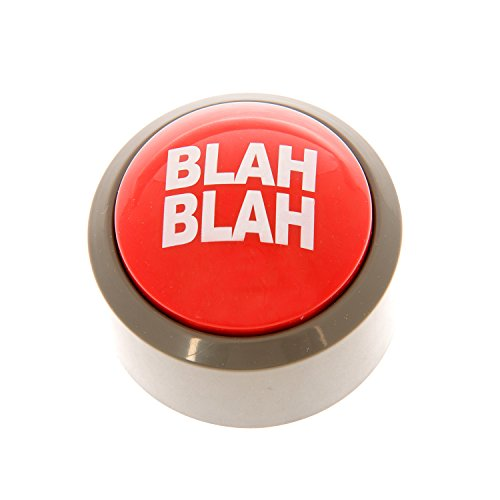 Funtime Gifts sc8010 Blah-Blah Button, rot