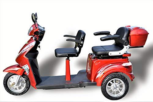 Elektromobil ECO Engel 503 rot, 1000 Watt, 25 km/h, Seniorenmobil 2 Sitzer mit Straßenzulassung E-Scooter E-Roller