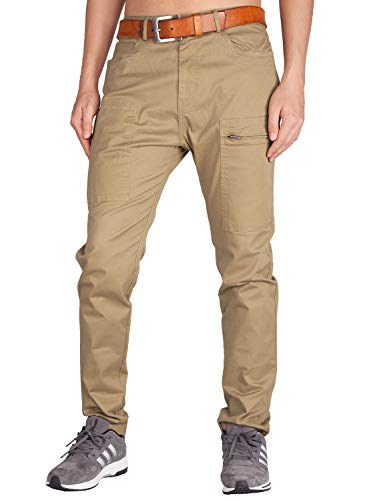 ITALY MORN Pantalón para Hombre Casual Chino Cargo Slim fit 6 Colors