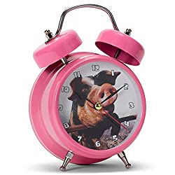 Mark Feldstein & Associates Wacky Wakers Pig Bedside Tabletop Alarm Sound Clock