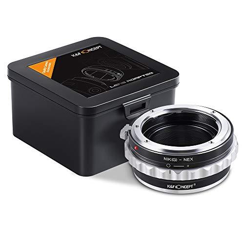 Adaptador Nikon G a Sony E, K&F Concept Lens Mount Adapter para...