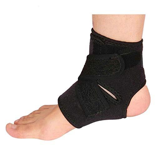 Outdoor-Sport Schwarz Einstellbare Knöchel Fuß Knöchelstütze elastische Klammer-Schutz-Fußball-Basketball Ausrüstung (Color : Black)