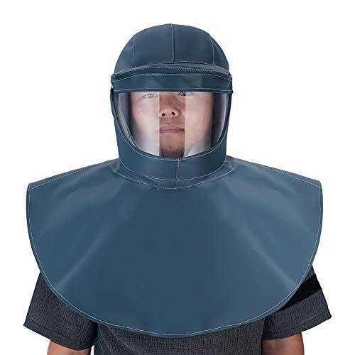 HECHEN Sandstrahlhaube Kappe schweißmaske Schal Schutzausrüstung Schutzmaske Verhindert Säuren, Laugen und Staub