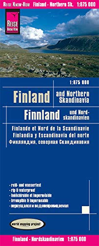 Finlandia y Norte de Escandinavia, mapa de carreteras impermeable. Escala 1:850.000. Reise Know-How.: Finland and Northern Scandinavia