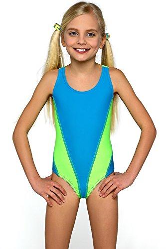 LORIN Mädchen Badeanzug Modell: 64 (Muster-v1, 134)