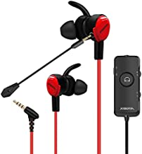 Stereo Bass Gaming Earbuds with Detachable Noise Cancelling Mic,7.1 Surround Stereo Sound, Light Weight USB Headphones by Xiberia MG-1 Pro for Xbox One, PS4,PC,Laptop