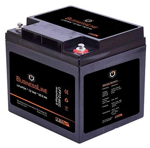 LiFePO4 Akku 12V 50Ah mit BMS (Batterie Management System), Bluetooth:ohne Bluetooth