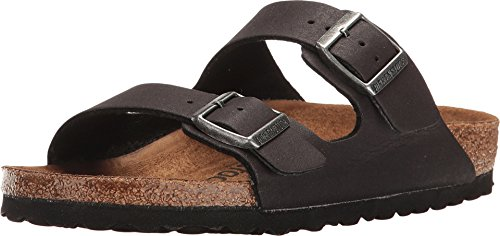 Birkenstock PETA Approved Vegan Arizona Women Sandals (38 M EU, Cacao Microfiber)