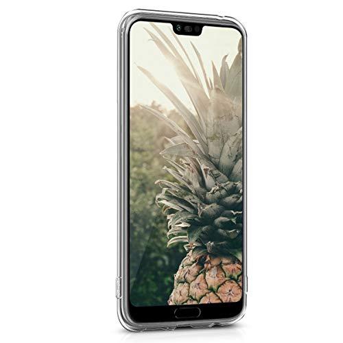kwmobile Huawei Honor 10 Hülle - Handyhülle für Huawei Honor 10 - Handy Case in Travel Umriss Design Schwarz Transparent - 2