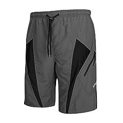 cheap Santic Men's Mountain Bike Shorts MTB Loose Fit Black / Gray
