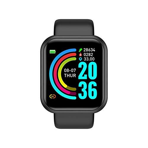 LXF JIAJU Smart Watch para Hombres Mujeres Tarifa Cardíaca Monitor De Presión Arterial Empresa Impermeable Smartwatch para Andriod iOS Smart Reloj (Color : Black)
