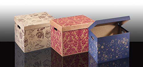 Dicoal opbergdoos, karton, 45 x 35 x 35 cm, granaatrood