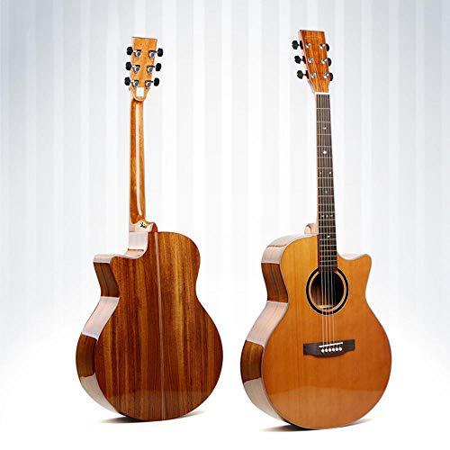 North King Madera Maciza Hecha de Acacia Pino Pulgadas Junta Guitarra Tipo ángulo de ausencia Guitarra Folk Hecha a Mano Instrumento único para BEG Ampollas para la práctica