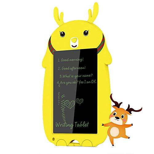 Tableta de escritura LCD de 8,5 pulgadas, tablero de escritura digital, sin papel, pizarra de dibujo para niños, escuela, graffitis, notas, regalos para niños/niñas, ciervo amarillo
