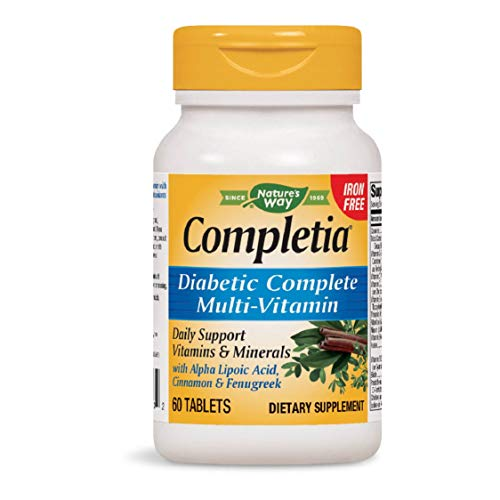 Nature's Way Completia Diabetic Multivitamin (iron-free), 60 Tablets (Packaging May Vary)