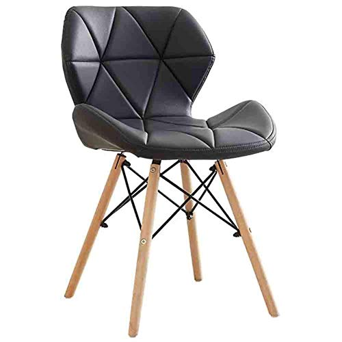 N / A Chairs Reception with Pillow Soft from Folder to Office, 1 Piece Without Leather Arm Chair Kitchen, Dining Chairs,Black,38x50x73cm (15x20x29inch)